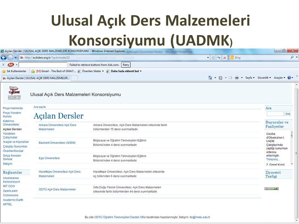 Ulusal Açık Ders Malzemeleri Konsorsiyumu (UADMK)
