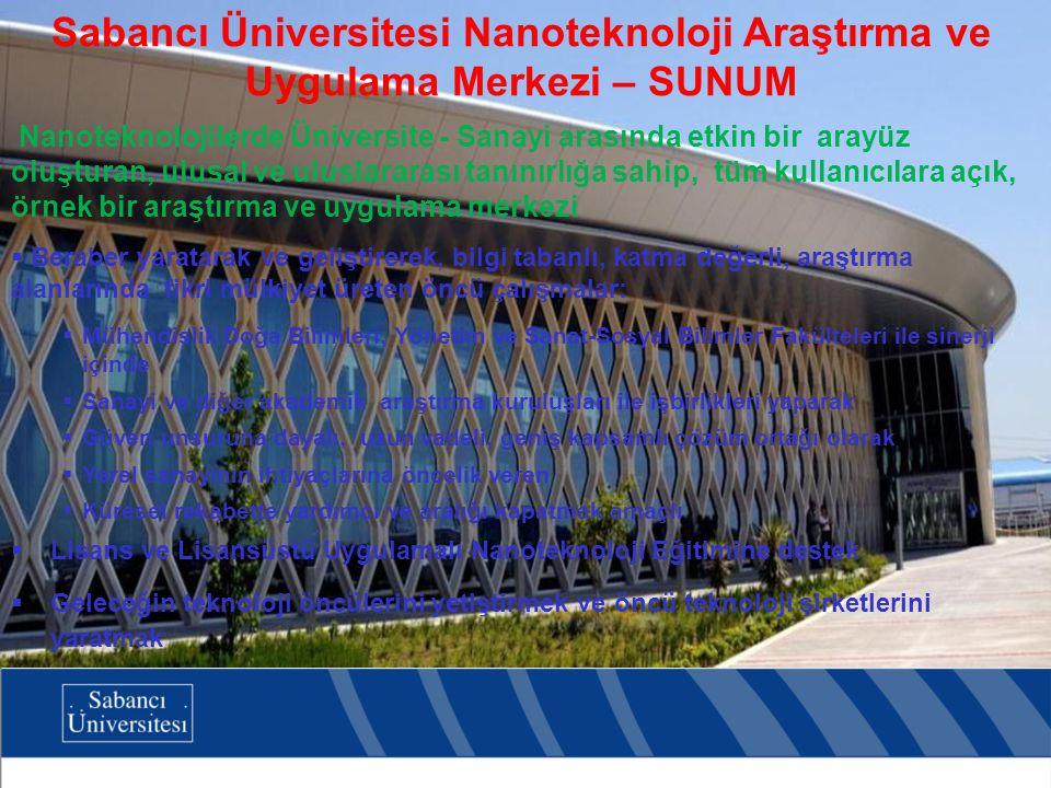 Sabancı Üniversitesi Nanoteknoloji Araştırma ve Uygulama Merkezi – SUNUM