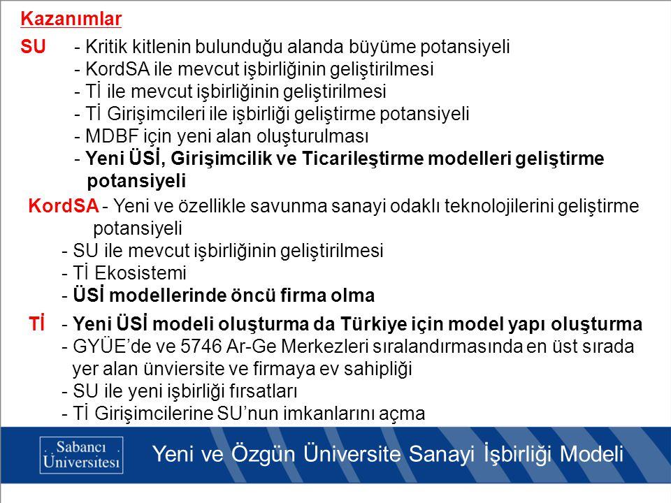 Yeni ve Özgün Üniversite Sanayi İşbirliği Modeli