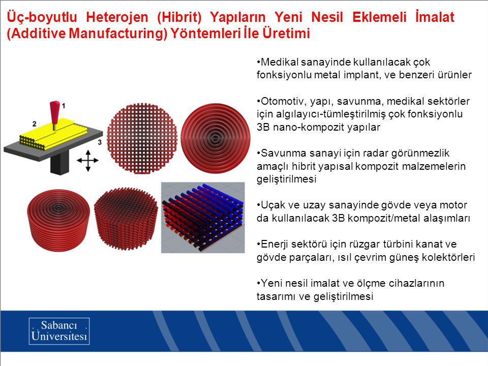 Üç-boyutlu Heterojen (Hibrit) Yapıların Yeni Nesil Eklemeli İmalat (Additive Manufacturing) Yöntemleri İle Üretimi