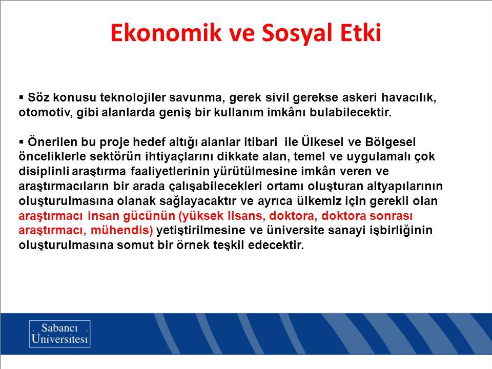Ekonomik ve Sosyal Etki