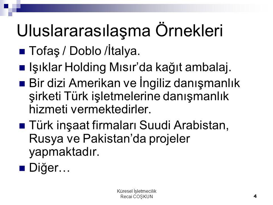 Uluslararasılaşma Örnekleri