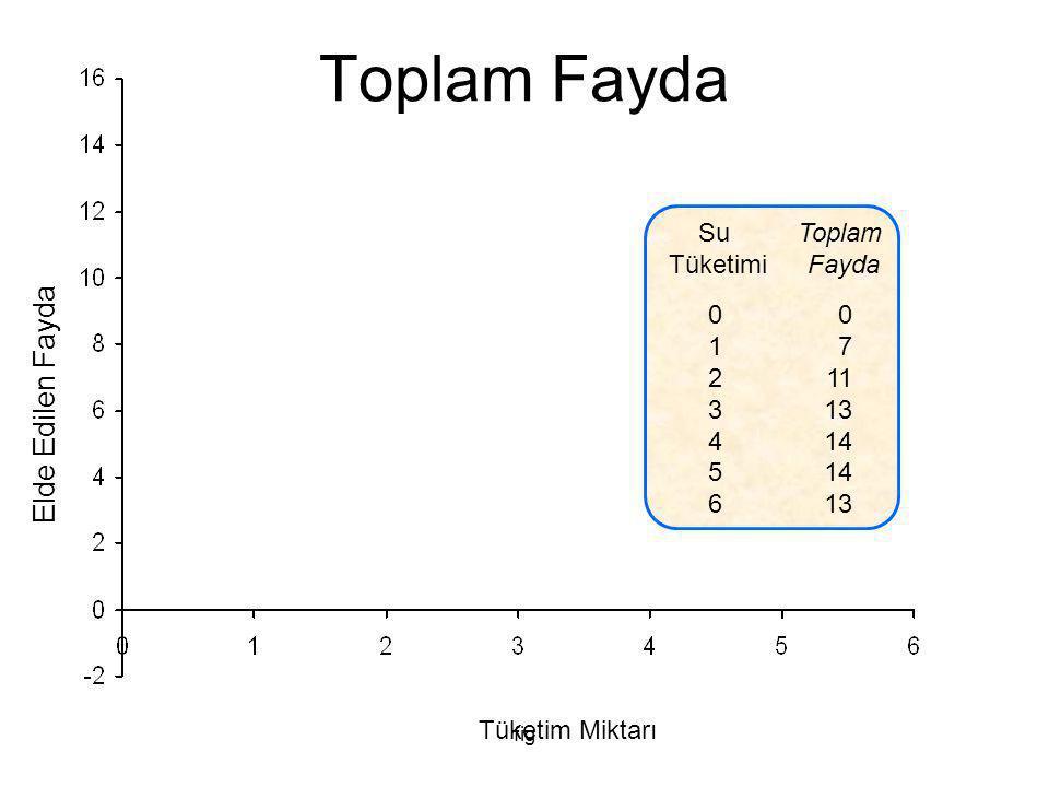 Toplam Fayda Elde Edilen Fayda Su Tüketimi Toplam Fayda 1 2 3 4 5 6 7