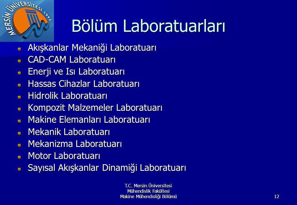 Bölüm Laboratuarları Akışkanlar Mekaniği Laboratuarı