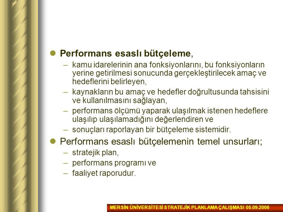 Performans esaslı bütçeleme,