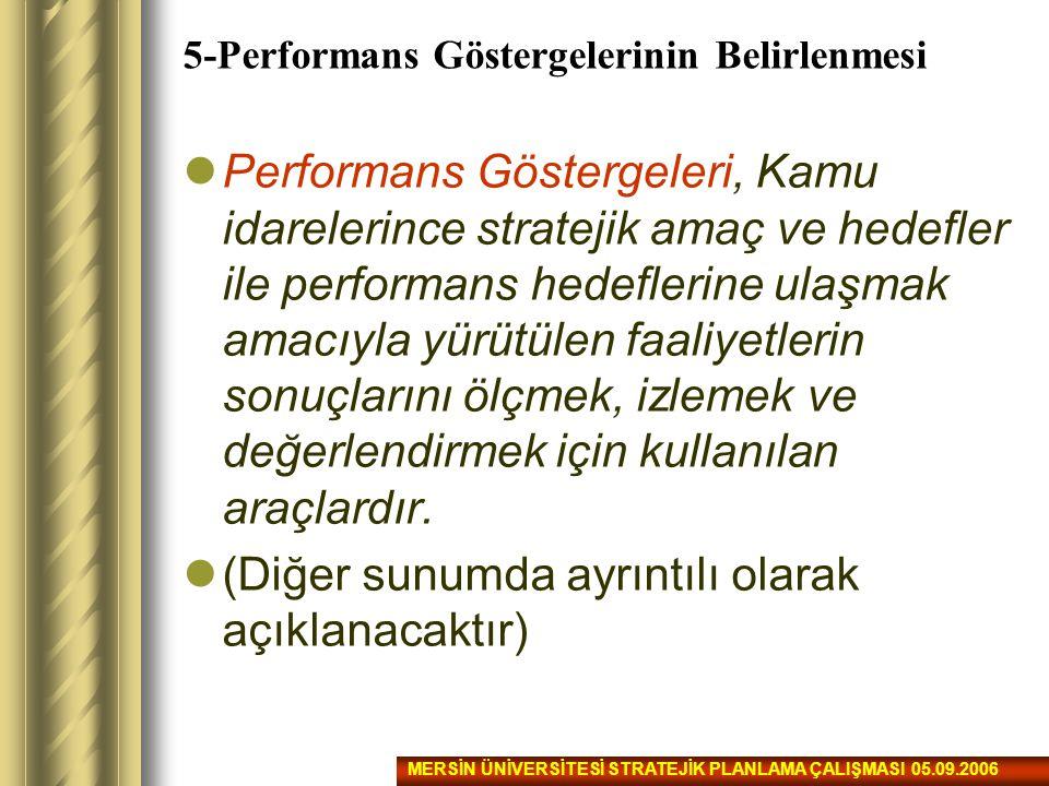 5-Performans Göstergelerinin Belirlenmesi