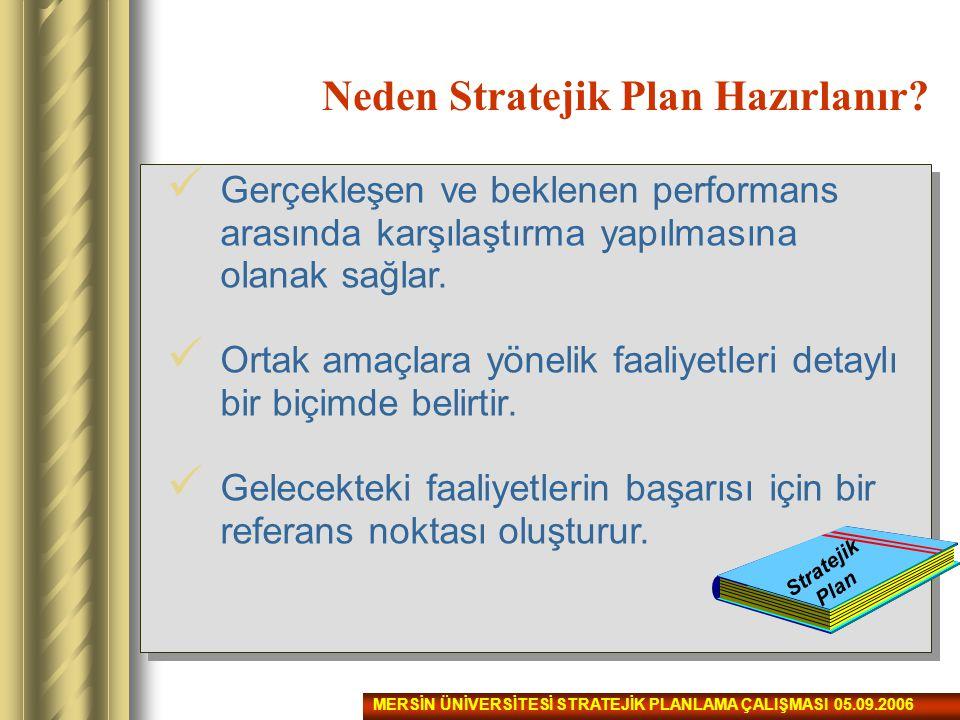 Neden Stratejik Plan Hazırlanır