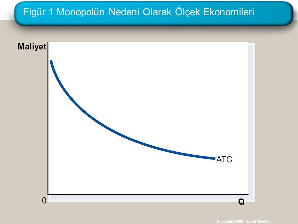 Figür 1 Monopolün Nedeni Olarak Ölçek Ekonomileri