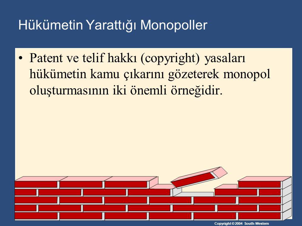 Hükümetin Yarattığı Monopoller