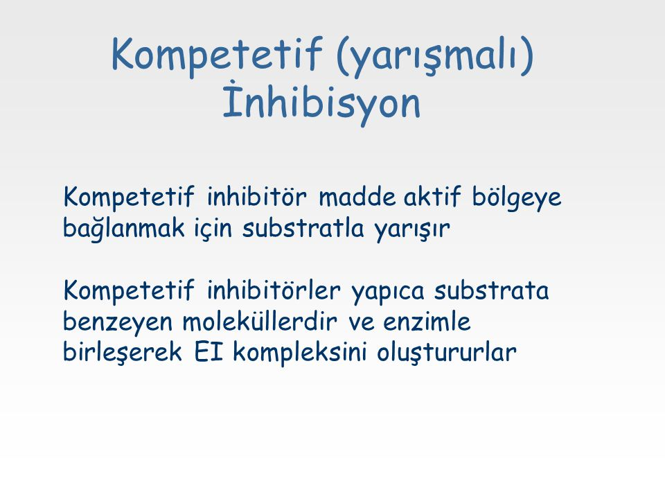 Kompetetif (yarışmalı) İnhibisyon