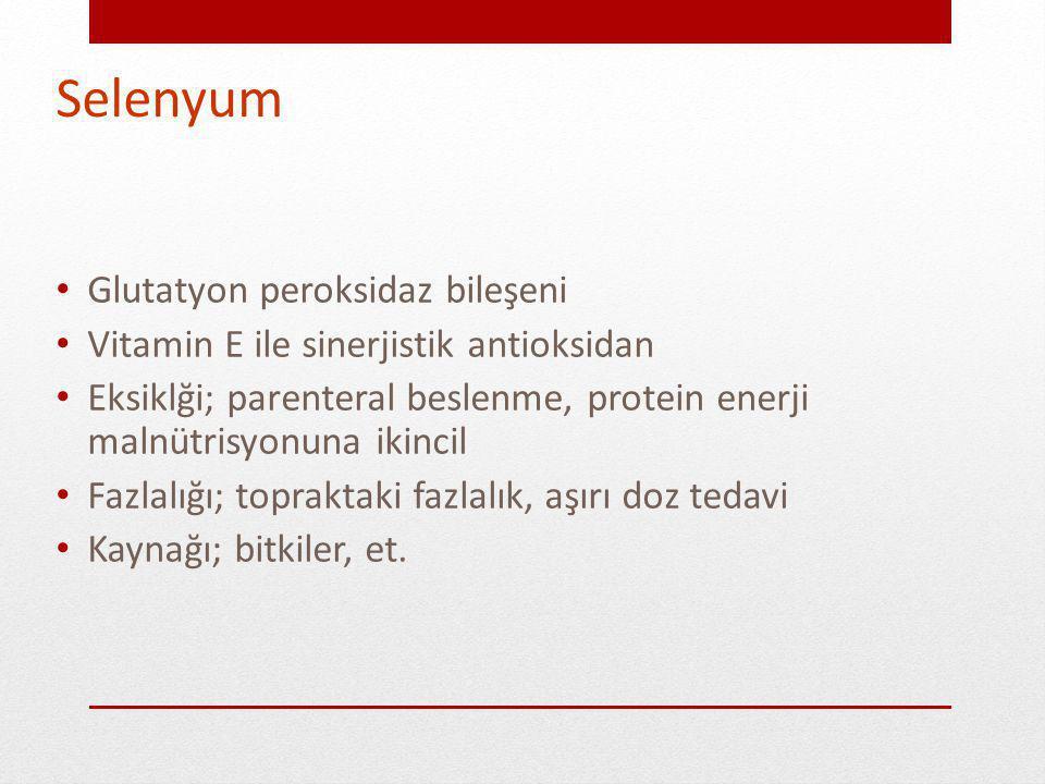 Selenyum Glutatyon peroksidaz bileşeni