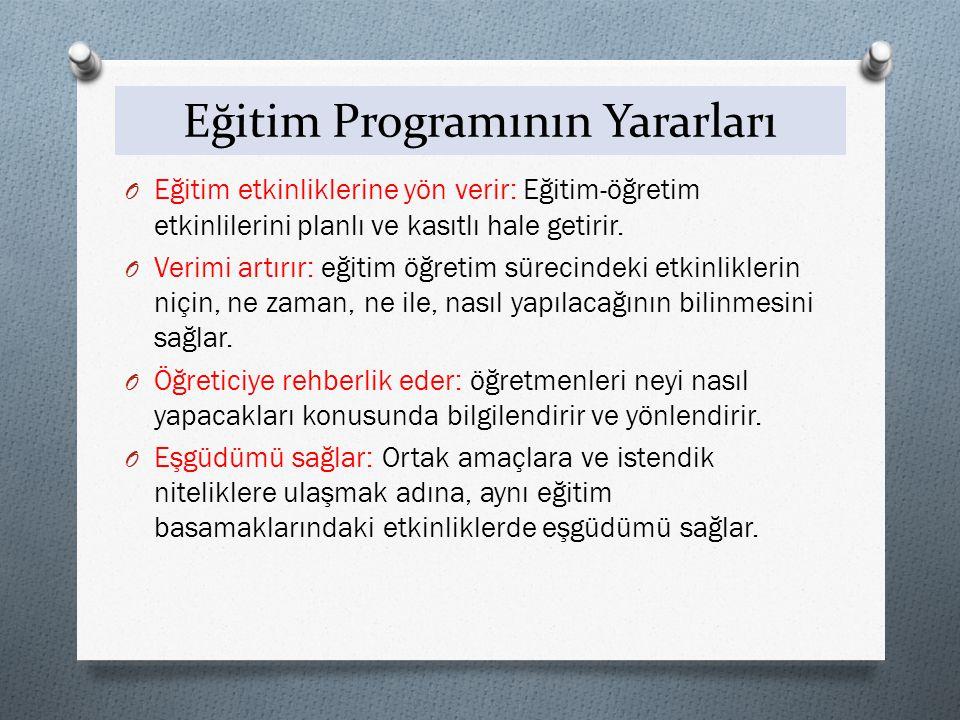 Eğitim Programının Yararları