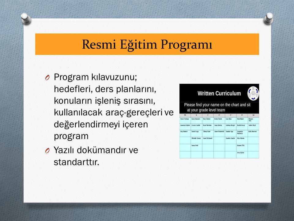 Resmi Eğitim Programı