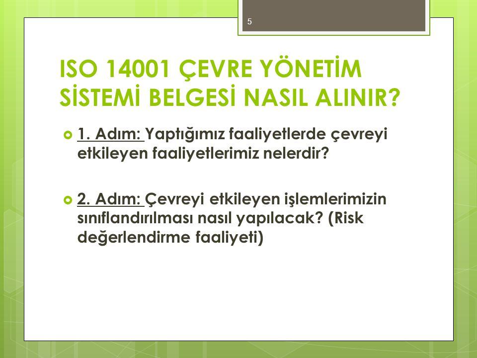 ISO 14001 ÇEVRE YÖNETİM SİSTEMİ BELGESİ NASIL ALINIR
