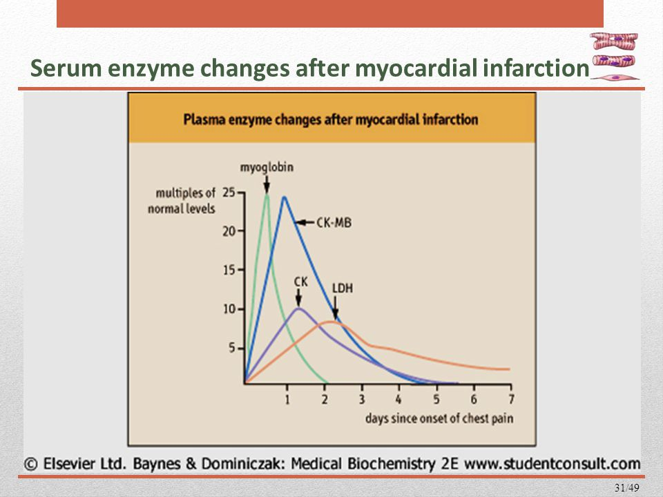 Serum enzyme changes after myocardial infarction