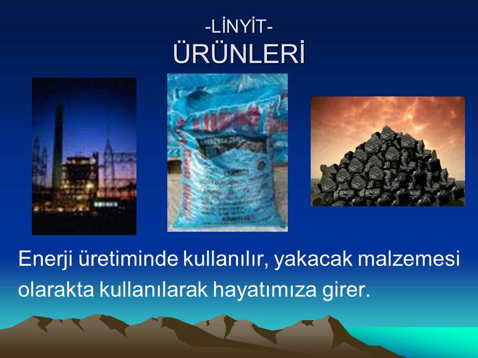 Enerji üretiminde kullanılır, yakacak malzemesi