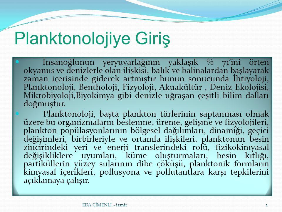Planktonolojiye Giriş