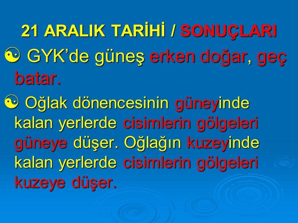 21 ARALIK TARİHİ / SONUÇLARI