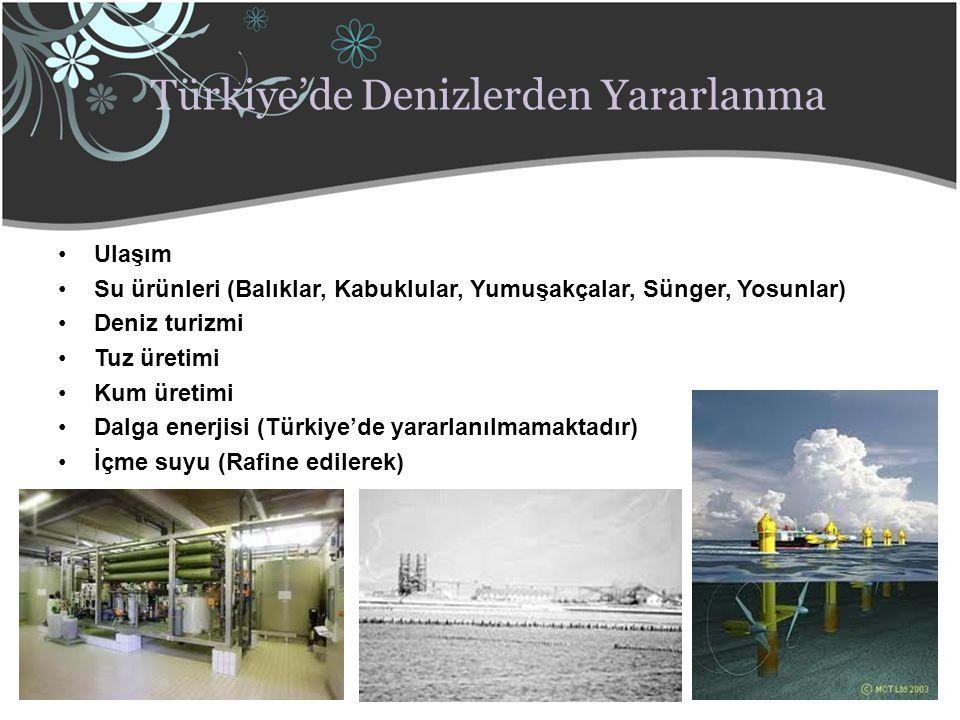 Türkiye'de Denizlerden Yararlanma