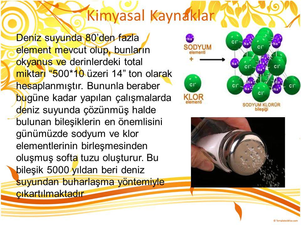 Kimyasal Kaynaklar