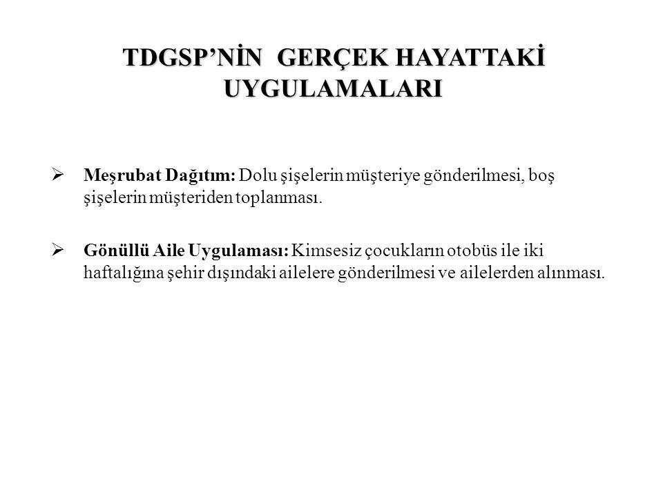 TDGSP'NİN GERÇEK HAYATTAKİ UYGULAMALARI