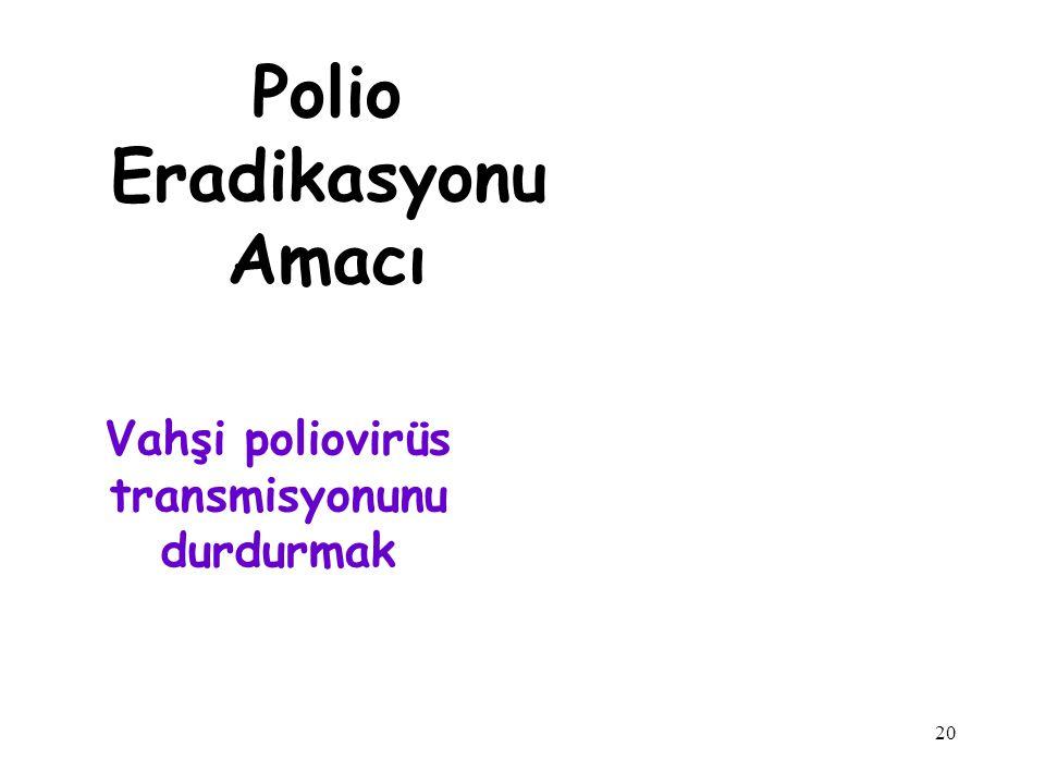 Vahşi poliovirüs transmisyonunu durdurmak