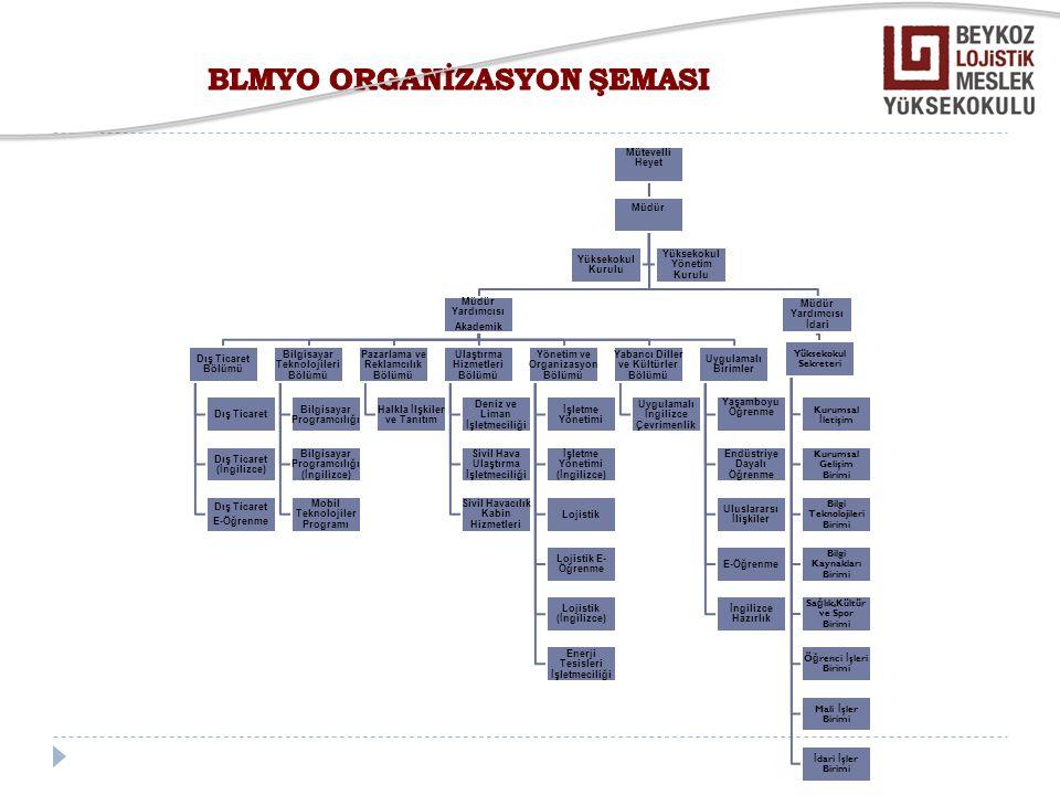 BLMYO ORGANİZASYON ŞEMASI