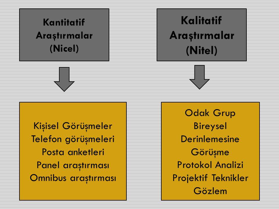 Kantitatif Araştırmalar Kalitatif Araştırmalar