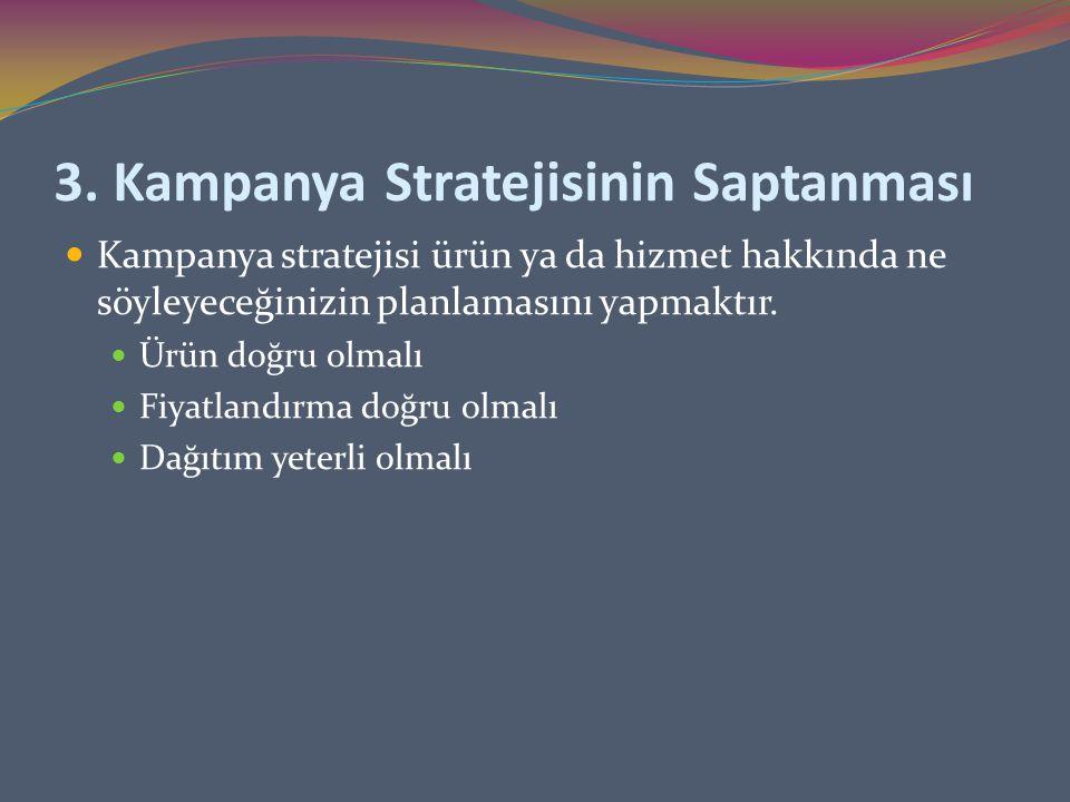 3. Kampanya Stratejisinin Saptanması