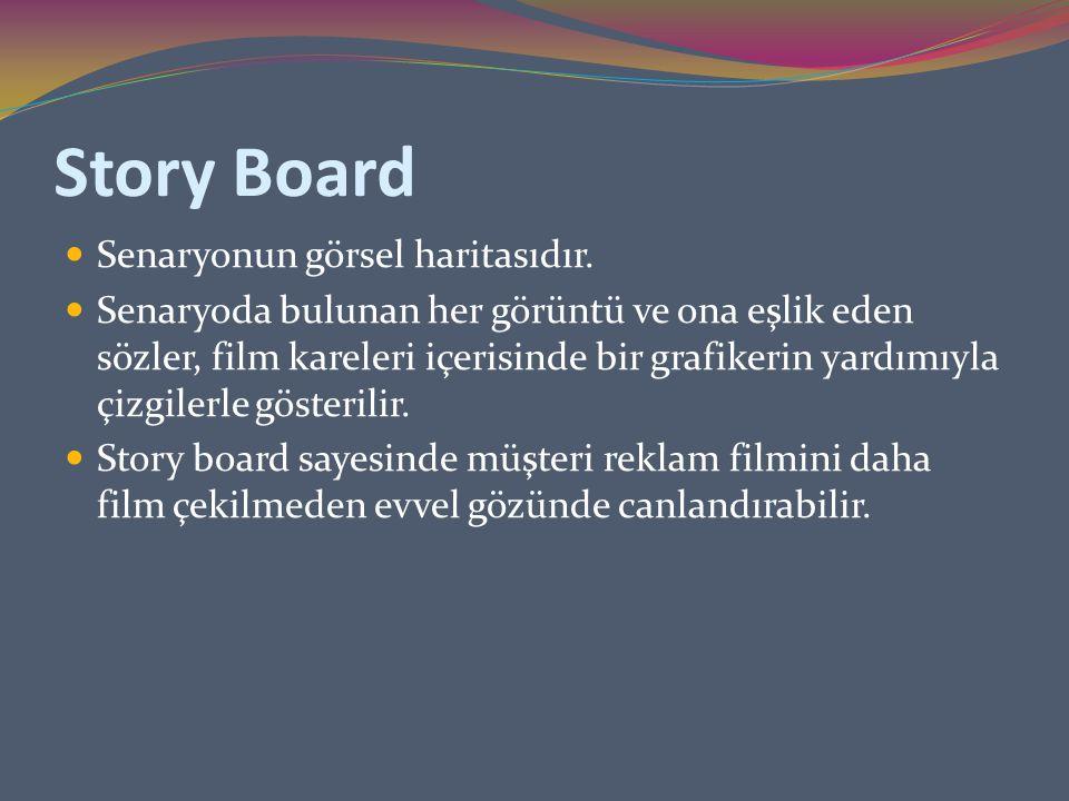 Story Board Senaryonun görsel haritasıdır.