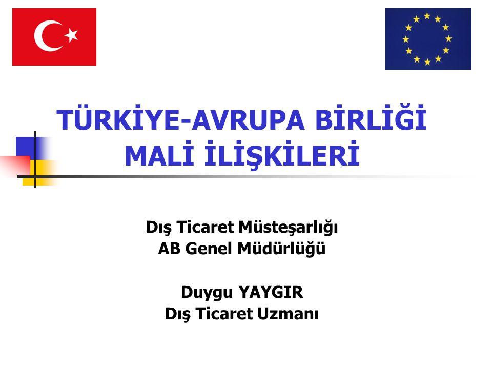 TÜRKİYE-AVRUPA BİRLİĞİ Dış Ticaret Müsteşarlığı