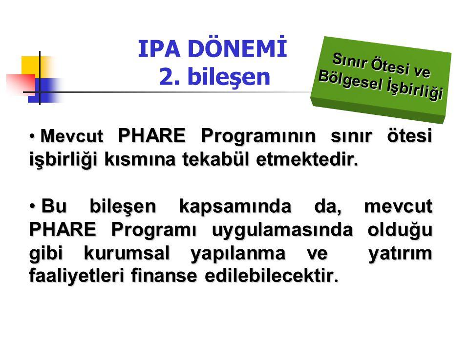 IPA DÖNEMİ 2. bileşen Sınır Ötesi ve. Bölgesel İşbirliği.