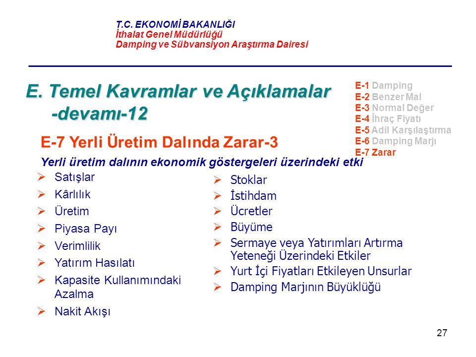E. Temel Kavramlar ve Açıklamalar -devamı-12