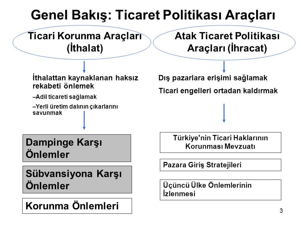 Genel Bakış: Ticaret Politikası Araçları