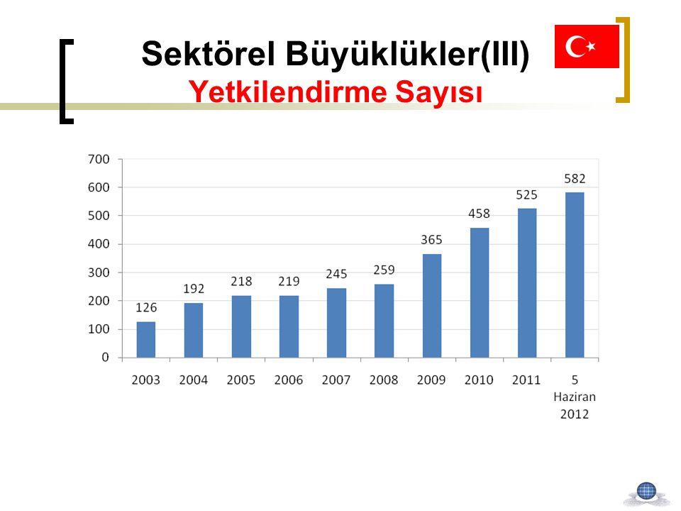 Sektörel Büyüklükler(III) Yetkilendirme Sayısı