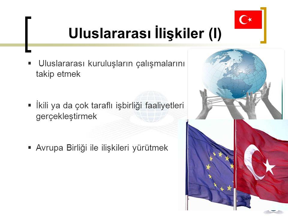 Uluslararası İlişkiler (I)