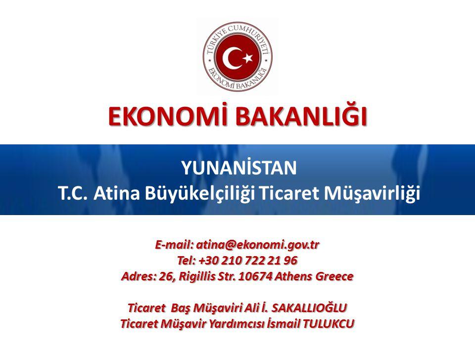YUNANİSTAN T.C. Atina Büyükelçiliği Ticaret Müşavirliği