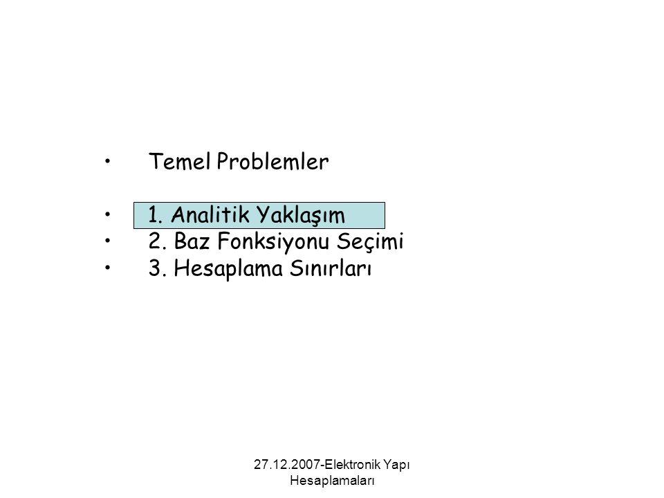 27.12.2007-Elektronik Yapı Hesaplamaları