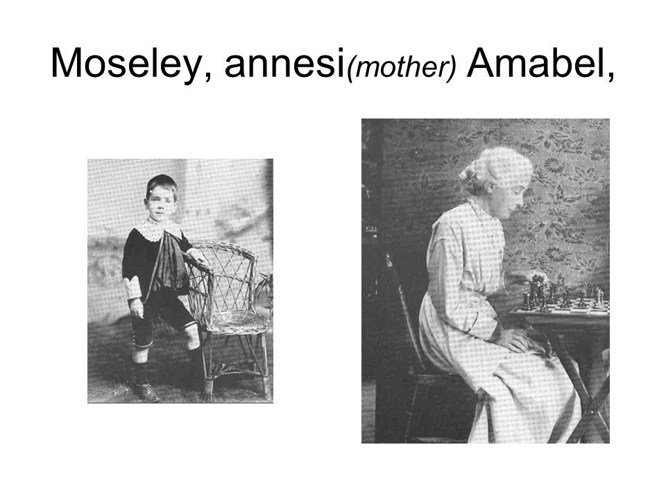 Moseley, annesi(mother) Amabel,