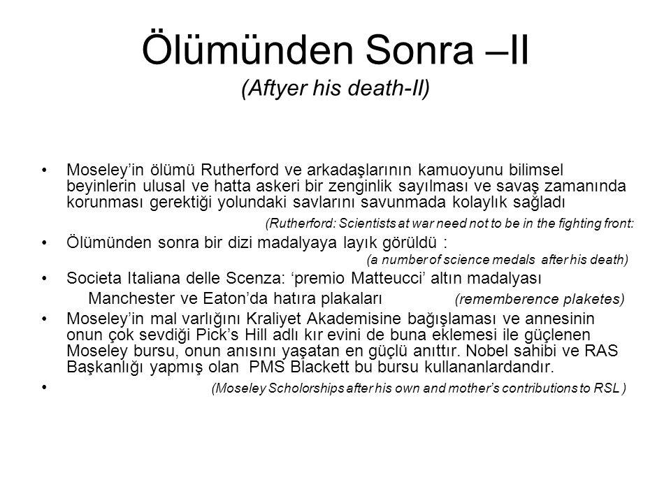 Ölümünden Sonra –II (Aftyer his death-II)