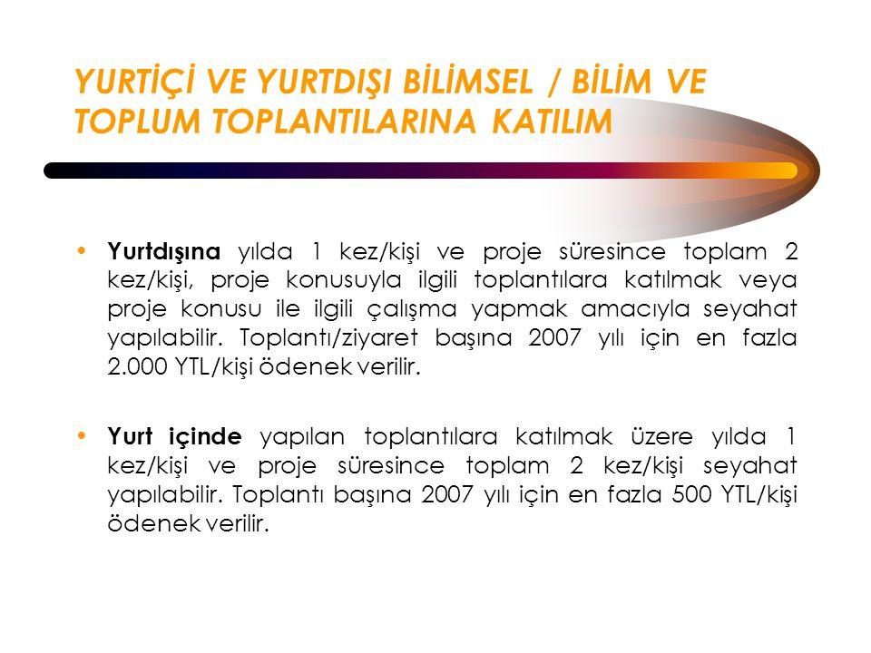 YURTİÇİ VE YURTDIŞI BİLİMSEL / BİLİM VE TOPLUM TOPLANTILARINA KATILIM