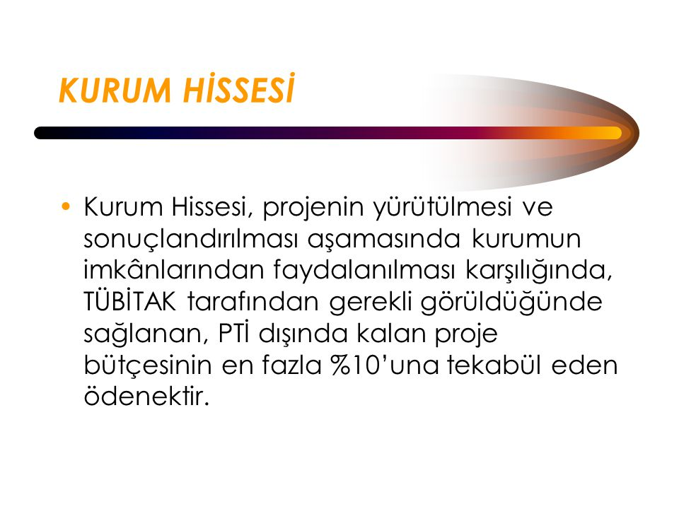 KURUM HİSSESİ