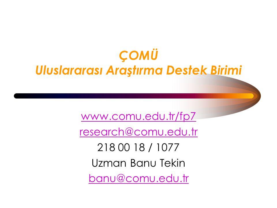 ÇOMÜ Uluslararası Araştırma Destek Birimi