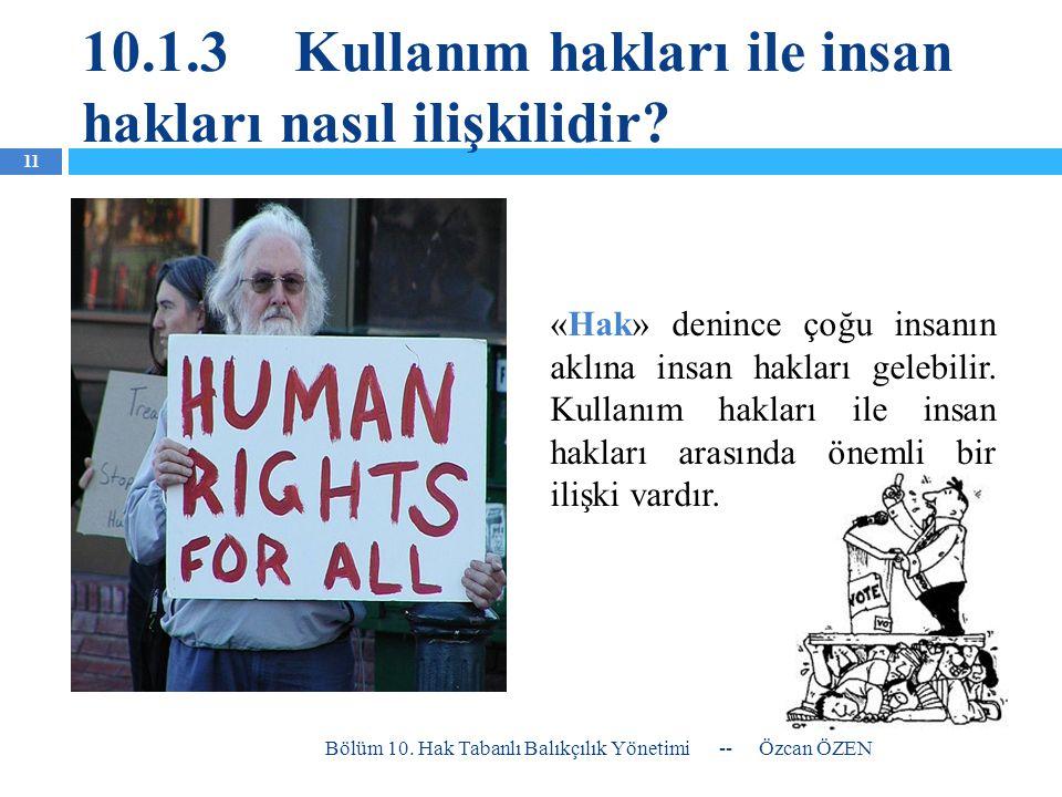 10.1.3 Kullanım hakları ile insan hakları nasıl ilişkilidir