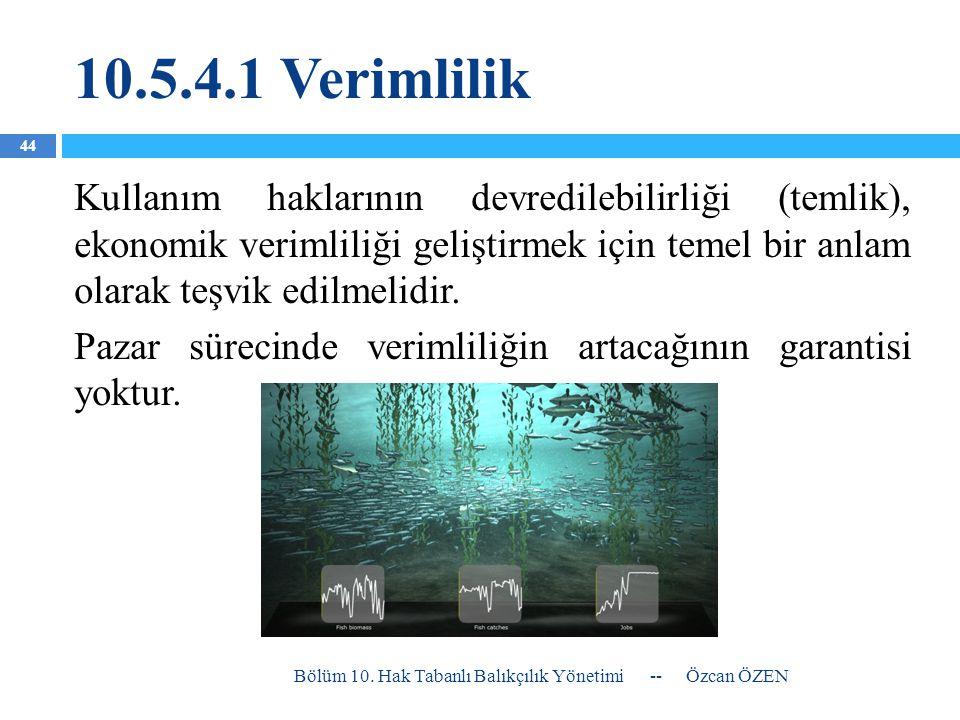 10.5.4.1 Verimlilik