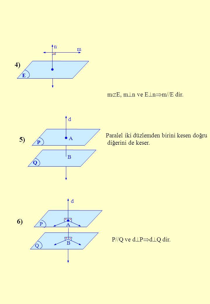 4) 5) 6) mE, mn ve Enm//E dir.