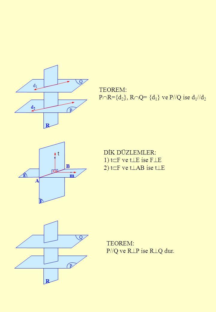 PR={d2}, RQ= {d1} ve P//Q ise d1//d2