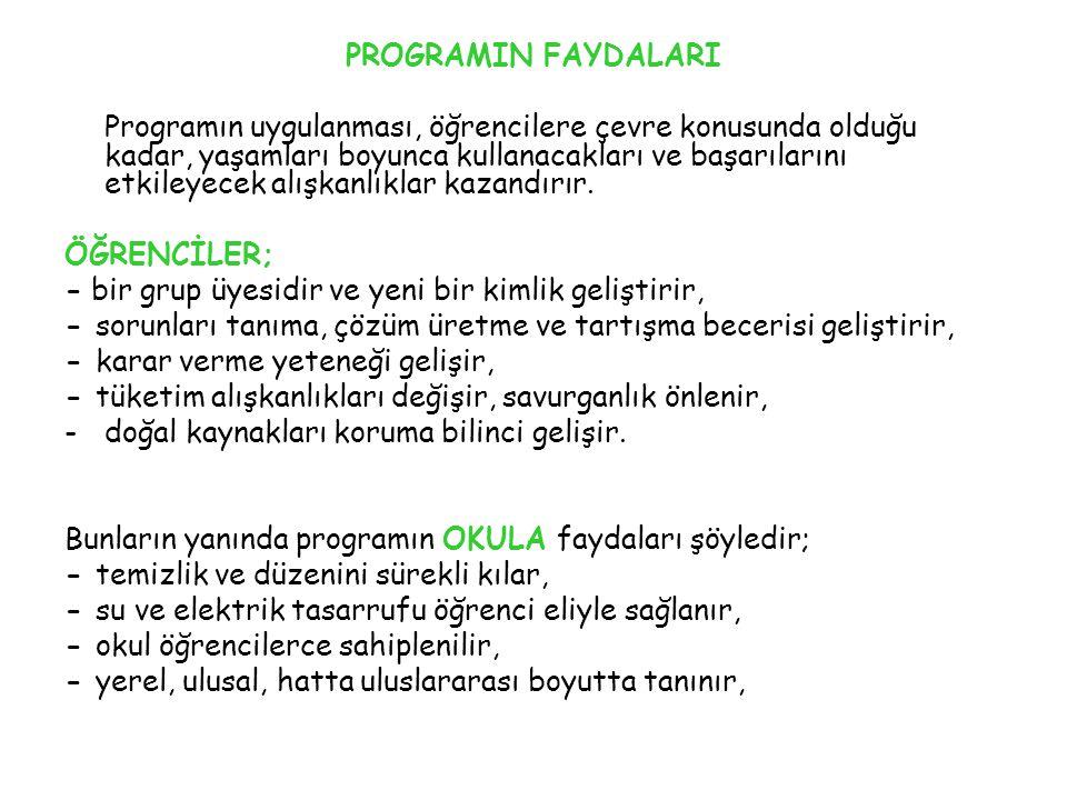 PROGRAMIN FAYDALARI