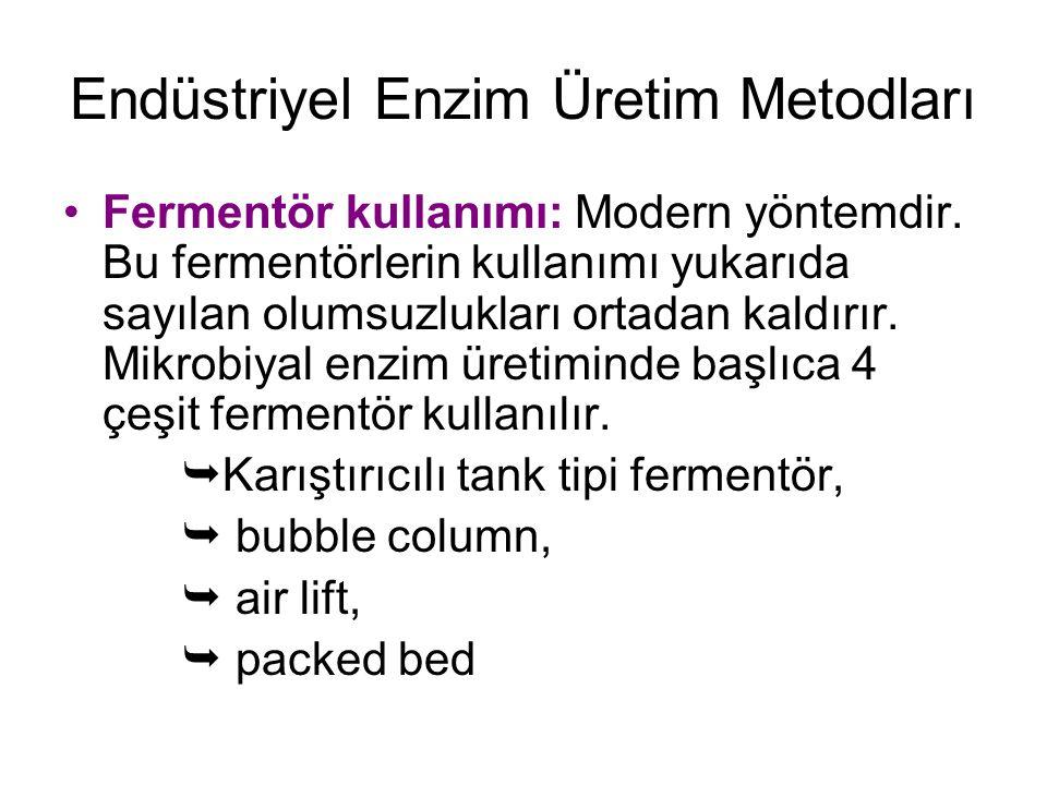 Endüstriyel Enzim Üretim Metodları