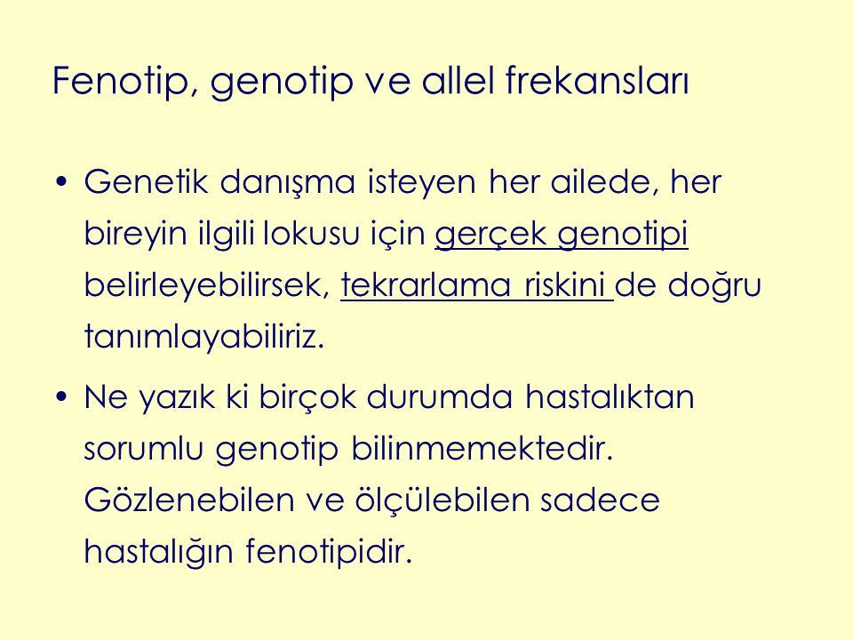 Fenotip, genotip ve allel frekansları